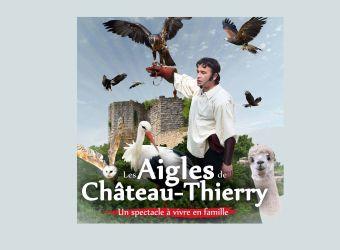 Logo du parc Les Aigles de Château-Thierry, spectacle de fauconnerie de l'Aisne
