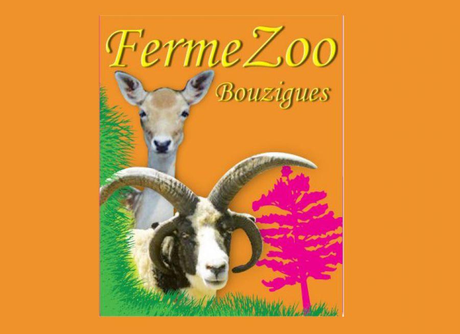 Logo de la ferme-zoo de Bouzigues dans l'Hérault avec une chèvre et une biche