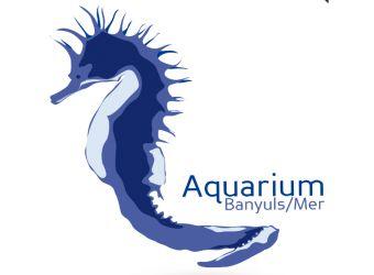 Logo de l'aquarium de Banyuls sur Mer représentant un hippocampe