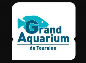 Logo avec poisson bleu du Grand Aquarium de Touraine à Lussault-sur-Loire près de Tours dans l'Indre-et-Loire