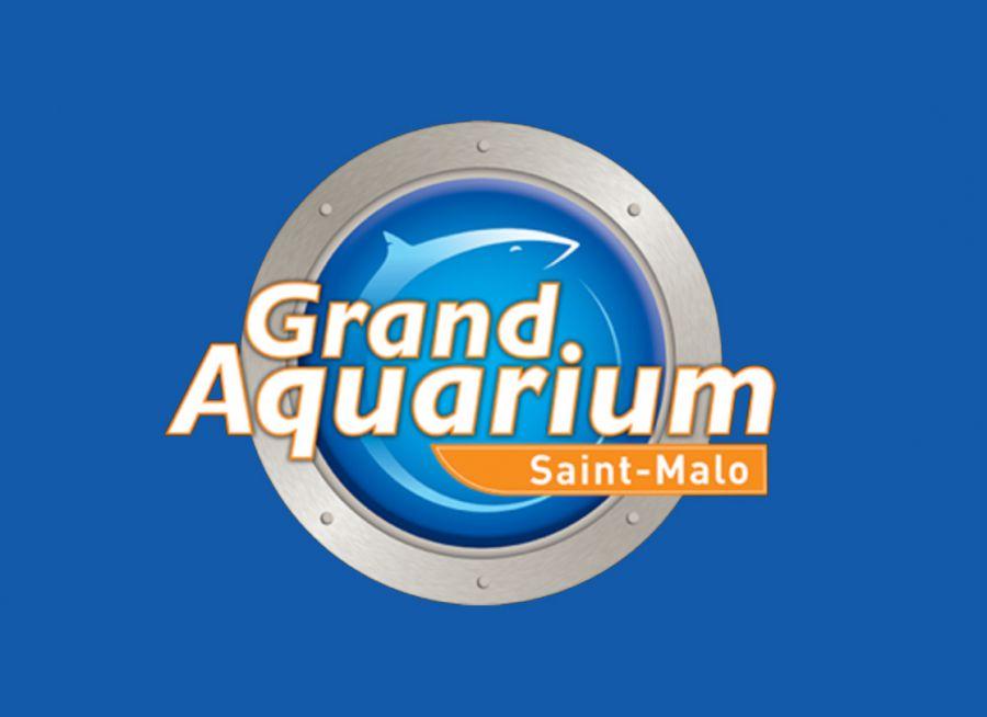 Logo requin du Grand Aquarium de Saint-Malo en Bretagne