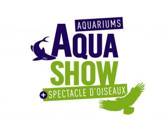 Logo de l'Aquashow, aquariums et spectacles d'oiseau à Audierne dans le Finistère
