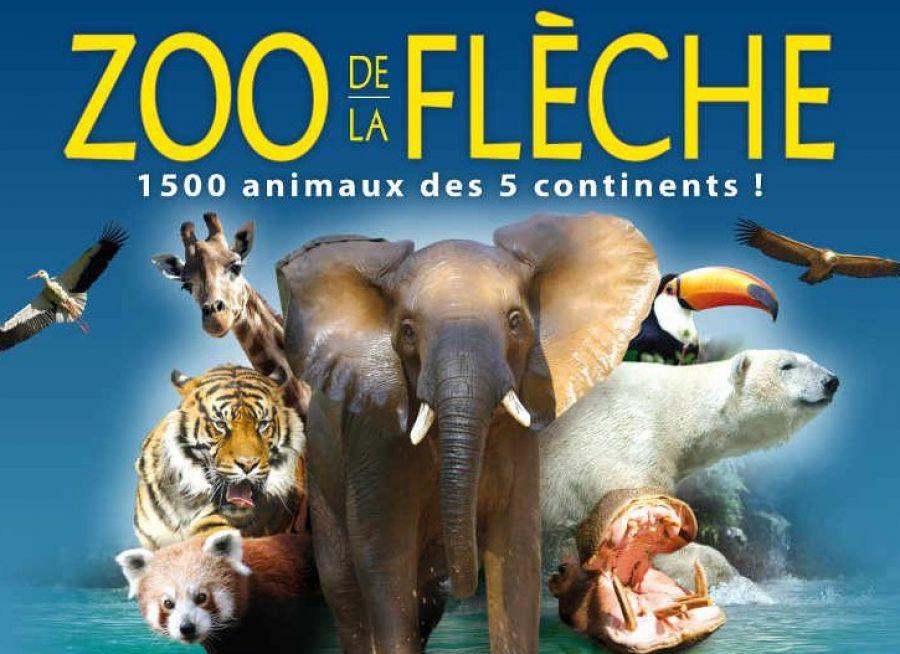 Affiche du Zoo de la Flèche, parc animalier dans la Sarthe