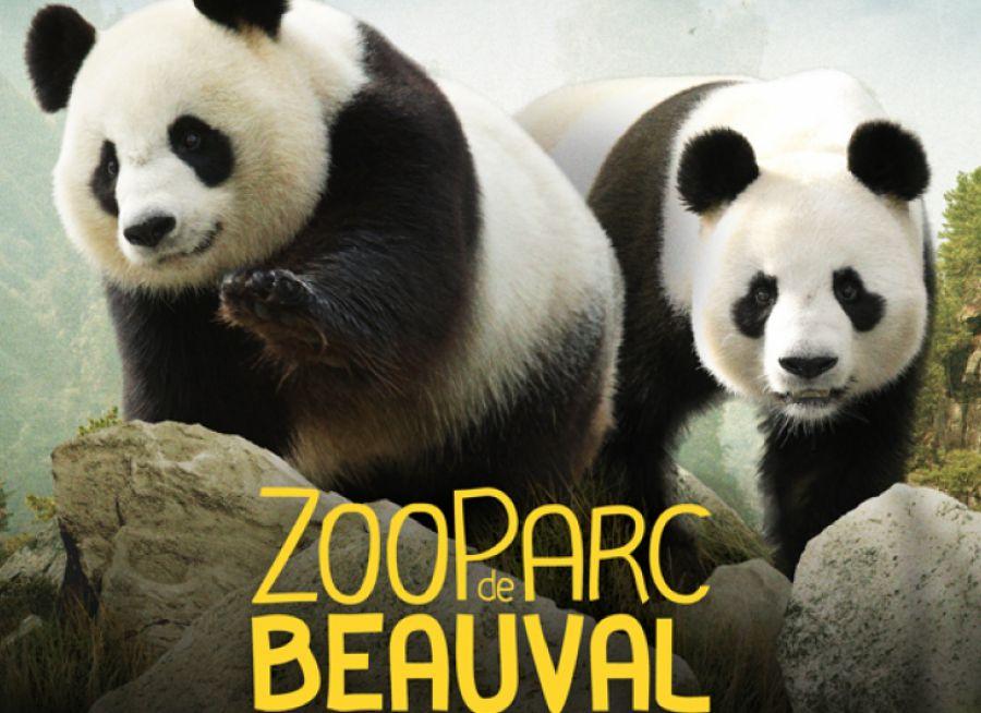 Affiche commerciale du ZooParc de Beauval à Saint-Aignan dans le Loir-et-Cher