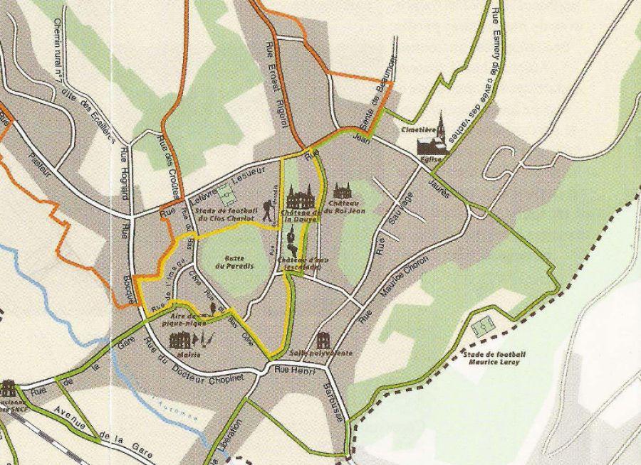 Photo d'un plan de Béthisy-Saint-Pierre dans l'Oise